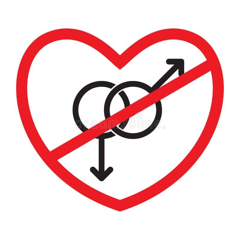 Anti-homoseksueel pictogram royalty-vrije illustratie