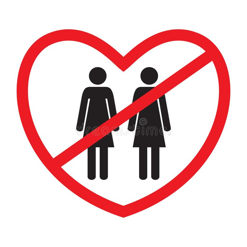 Anti-homosexual icon stock illustration