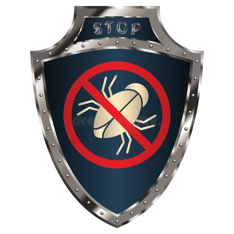 Anti-insecto del escudo imágenes de archivo libres de regalías