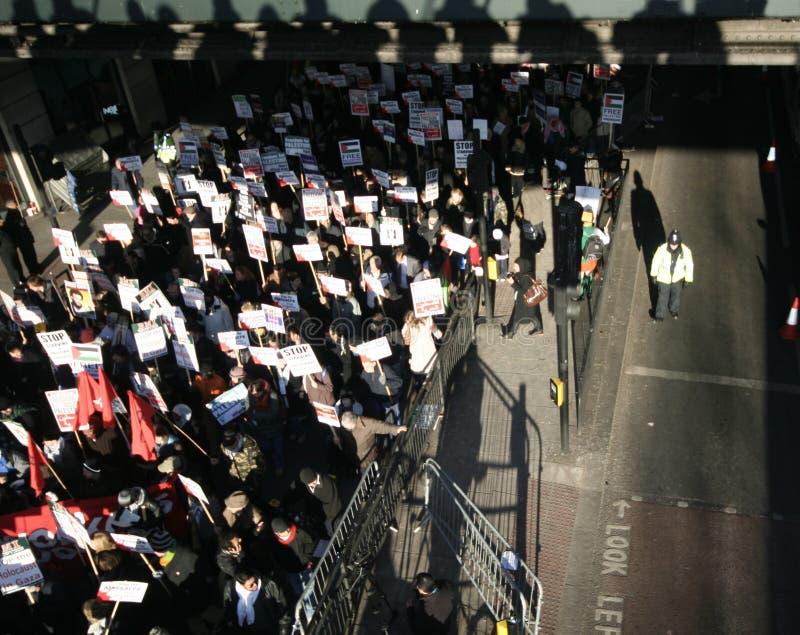 Anti-israeli protest in london royalty free stock photo