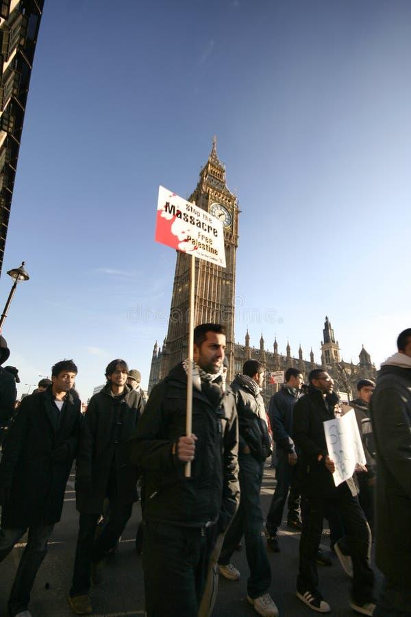 Anti-israeli protesters i London