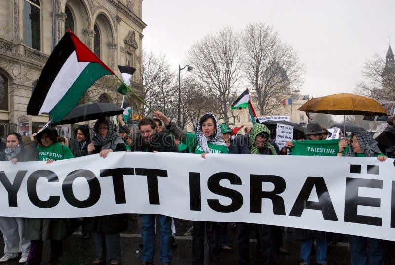 Anti-Israeli protests in Paris stock photos