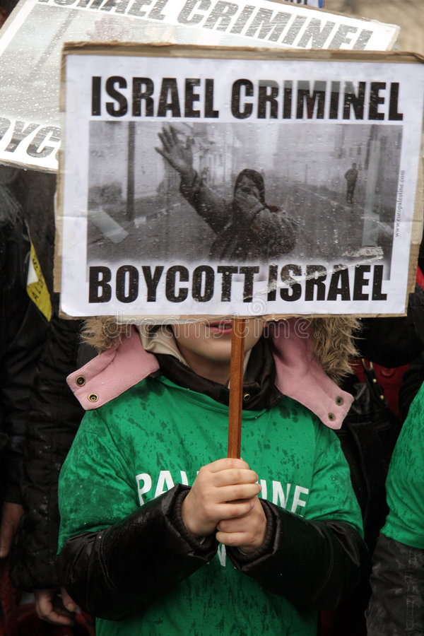 Anti-Israelische Proteste in Paris lizenzfreies stockfoto