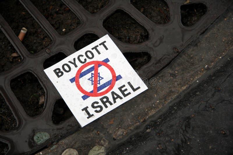anti israeliska paris protester royaltyfria bilder