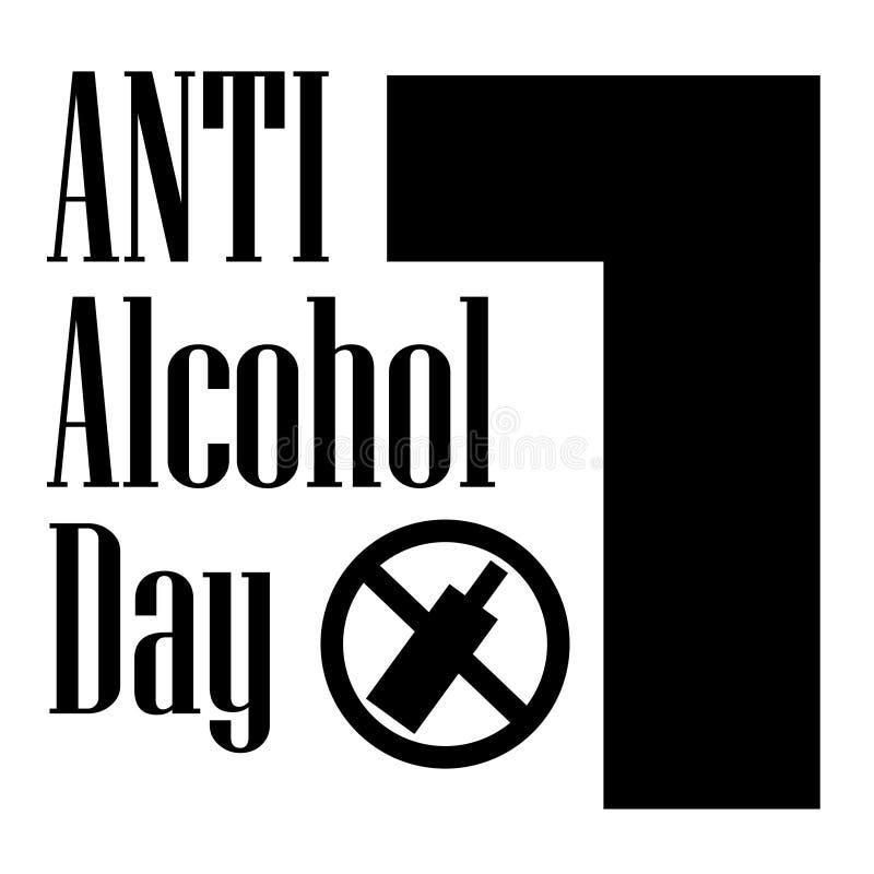 Anti jour Edu Illustration d'alcool illustration de vecteur
