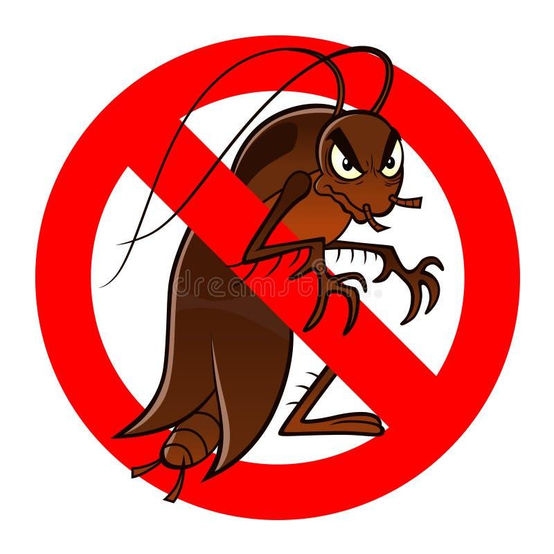 Anti-kackerlackatecken vektor illustrationer