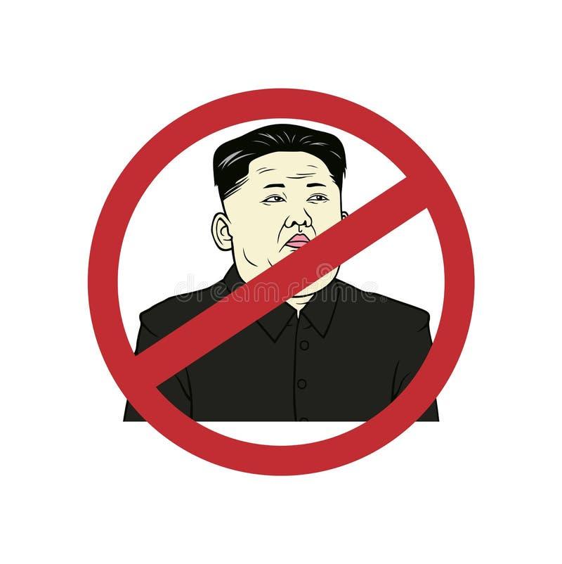 Anti Kim Jong-un, Flat Design Vector Art Illustration. stock image