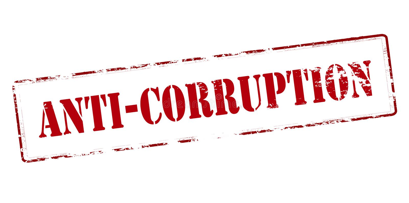 anti-korruption royaltyfri illustrationer