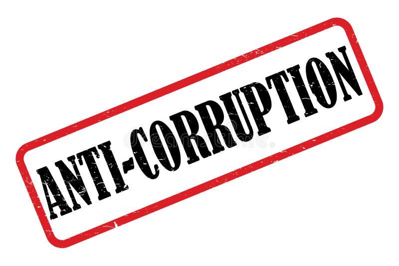 Anti--korruption stämpel vektor illustrationer