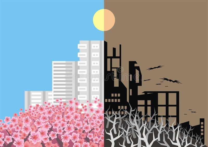 Anti--krig affischmall vektor illustrationer