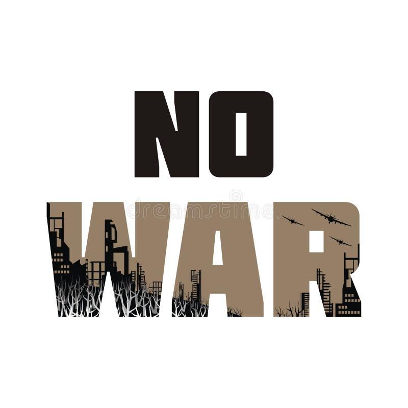 Anti-krigbaner royaltyfri illustrationer