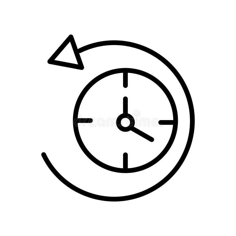 Anti-medurs symbolsvektor som isoleras på vit bakgrund, anti-medurs tecken-, linje- och översiktsbeståndsdelar i linjär stil royaltyfri illustrationer