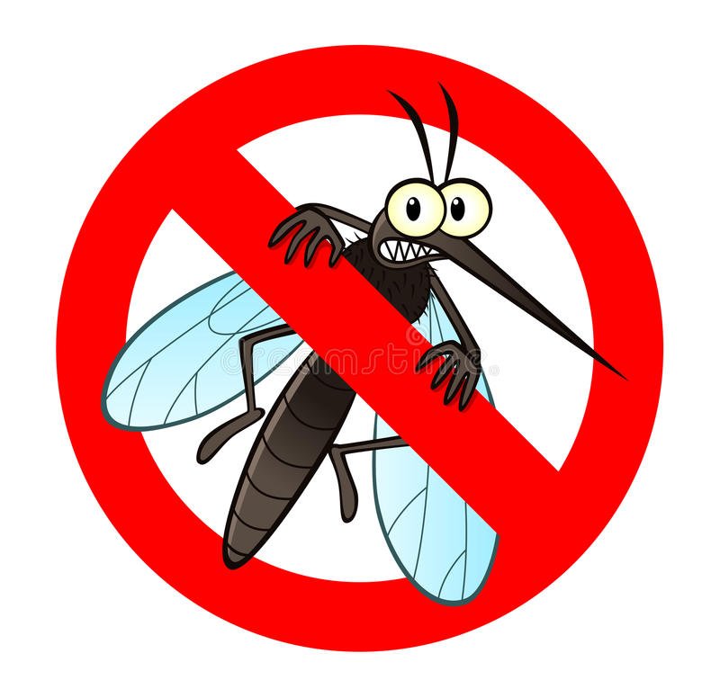 Anti mosquito sign stock illustration