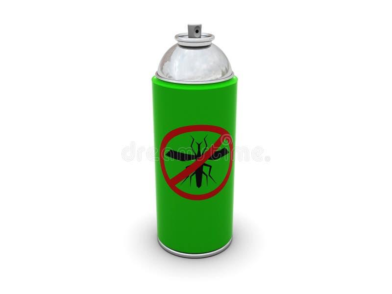 Download Anti mosquito spray stock illustration. Illustration of exterminator - 9723270