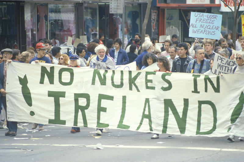 Download Anti-nuclear Energy Marchers Editorial Stock Image - Image of banners, protesting: 26270729