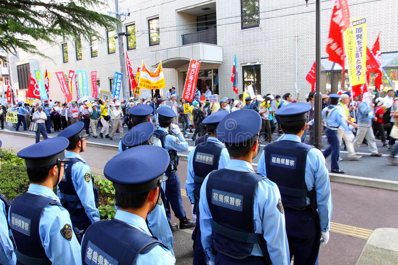 Anti-Nuclear Protests in Japan stock images