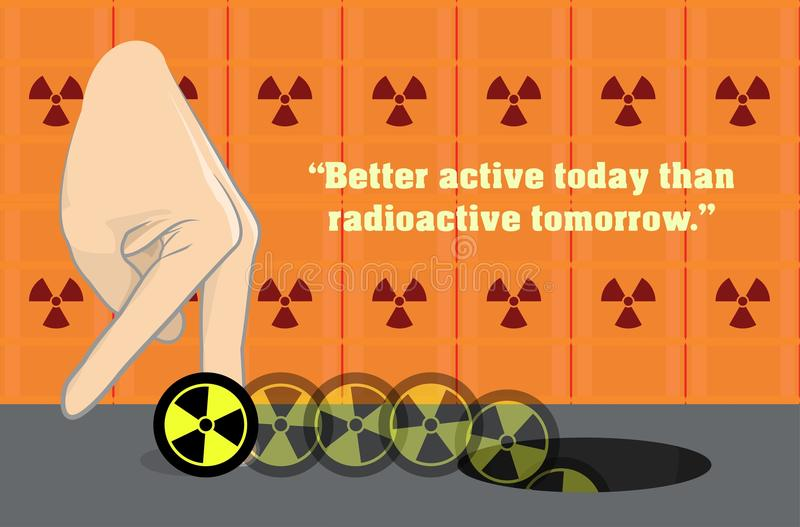 Anti-Nuke Anti-Nuclear Radioactive Illustration royalty free stock photos