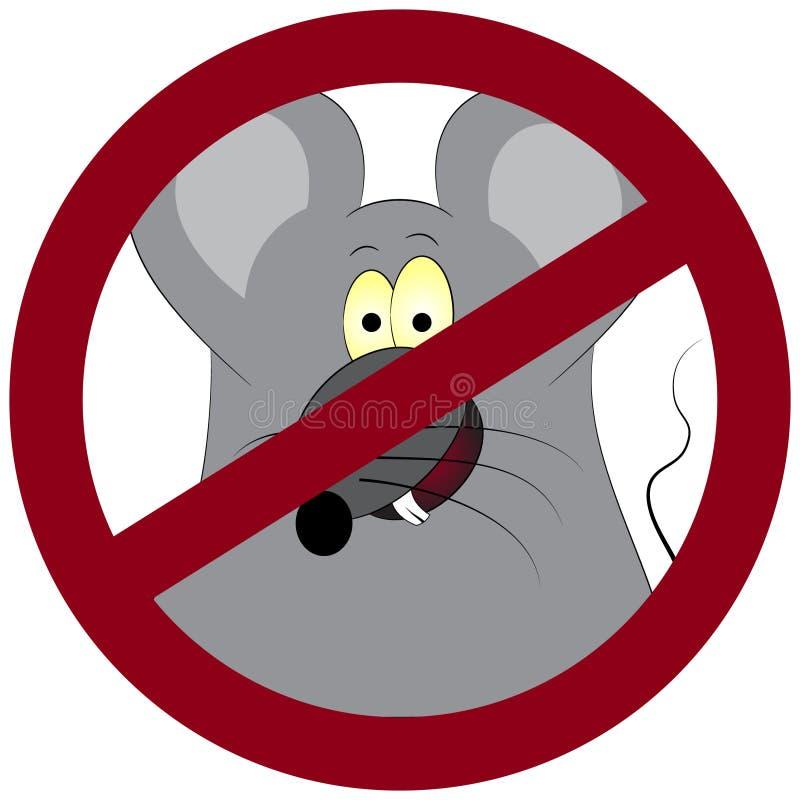 Anti-pl?gatecknet med en rolig tecknad film tjaller stock illustrationer