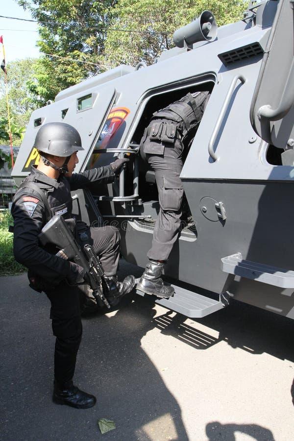 Anti police de Teror images stock