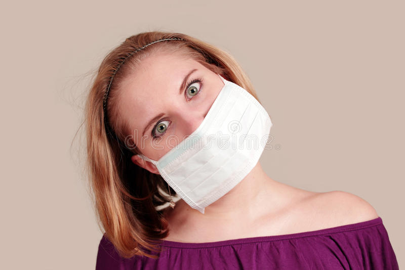 Anti-pollution girl stock photography