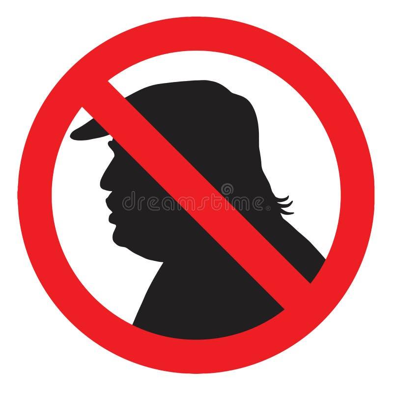 Anti presidente Donald Trump Silhouette Sign Ilustração do ícone do vetor ilustração do vetor