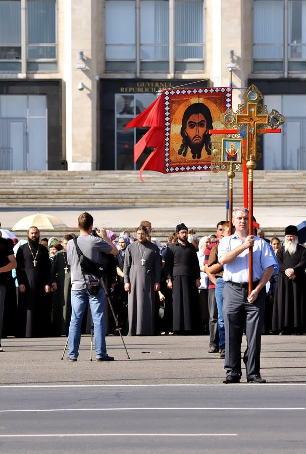 Anti protesta avventista in Moldova, Europa fotografia stock