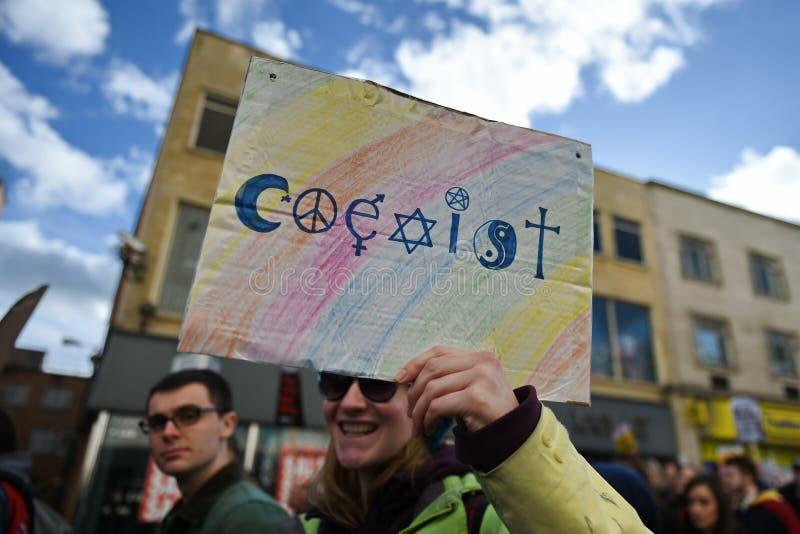 Anti protestation d'atout images libres de droits