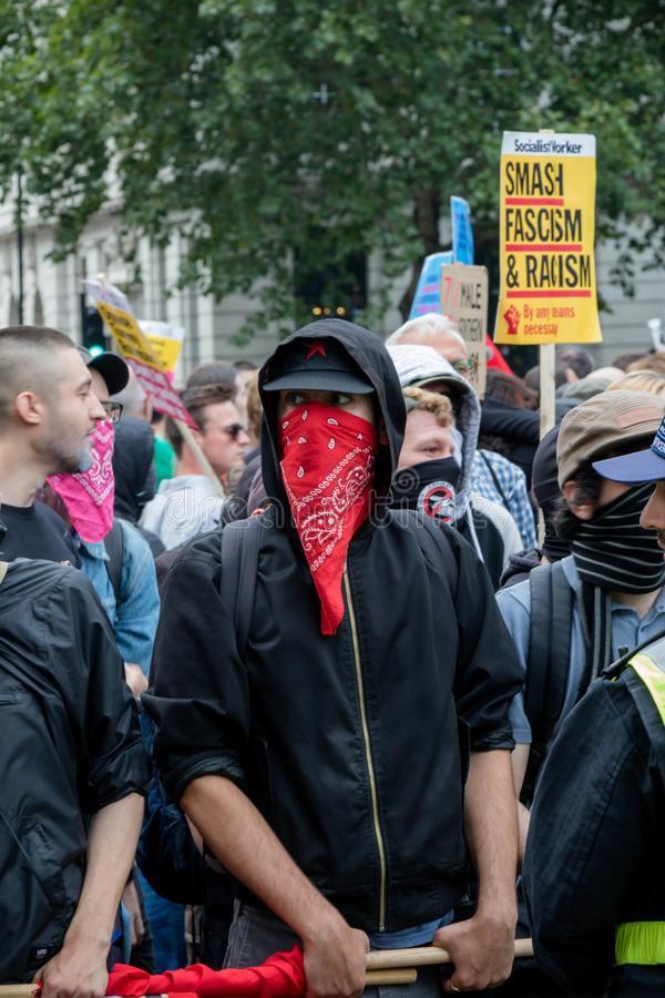 Anti protestations fascistes à Londres photo stock