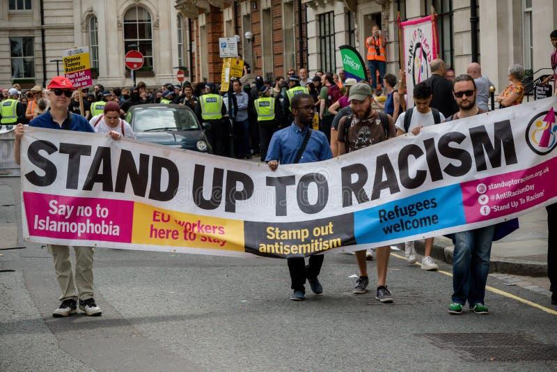 Anti protestations fascistes à Londres images libres de droits