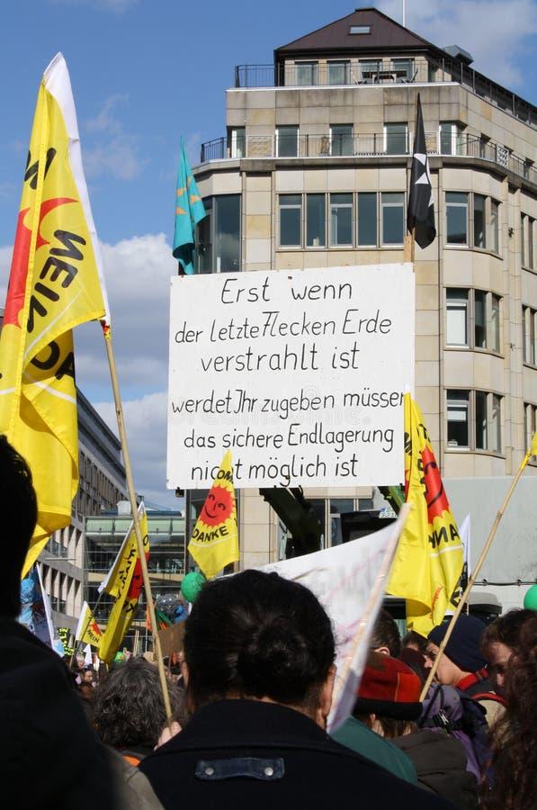 Anti protesto da energia nuclear Alemanha 2011 fotos de stock