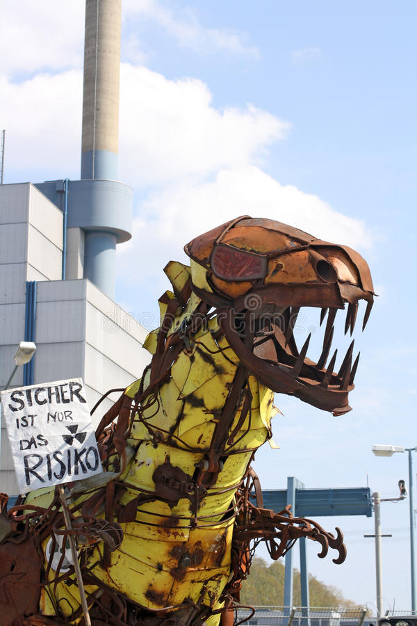 Anti protesto nuclear Alemanha 2010 fotos de stock
