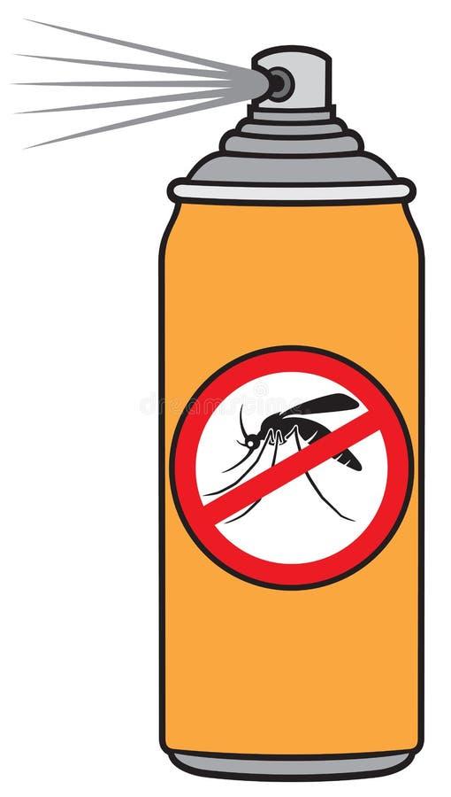 Anti pulverizador do mosquito ilustração do vetor