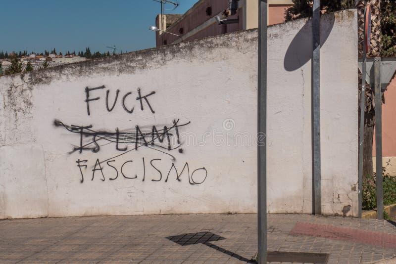 Anti réponse fasciste photographie stock