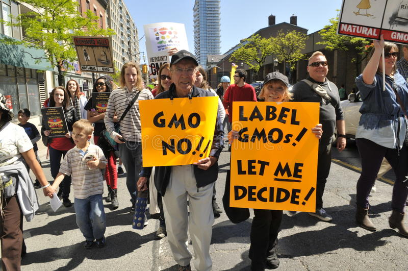 Anti rassemblement de GMO. photo libre de droits