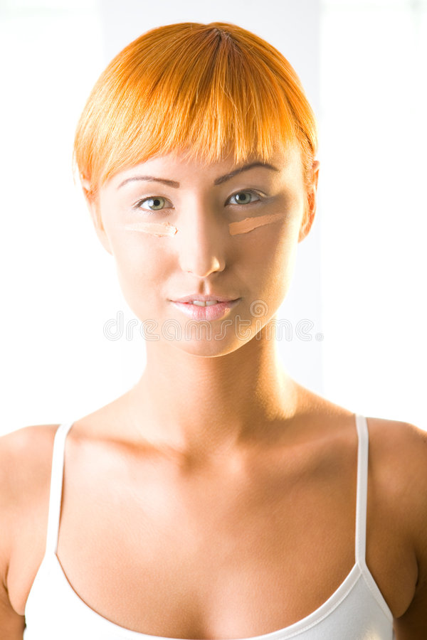 Anti-ruffle Face Cream Royalty Free Stock Photo