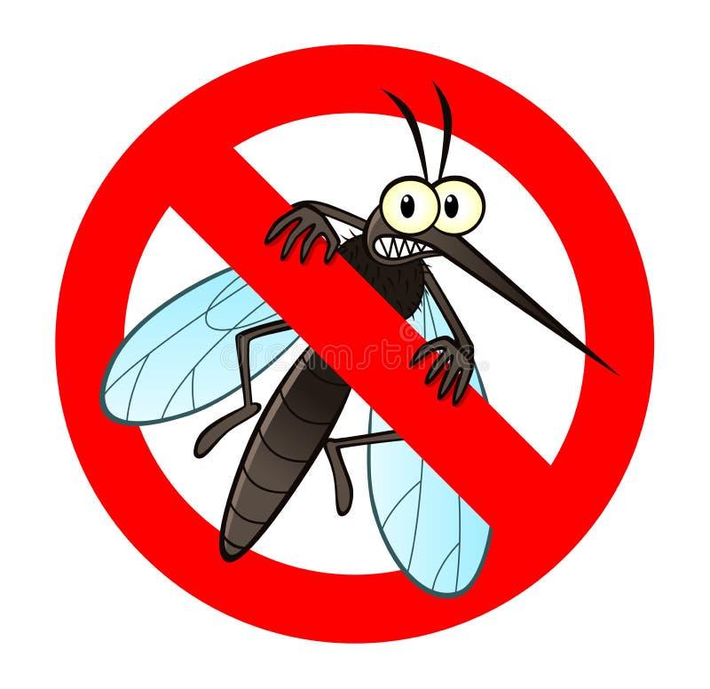 Anti segno della zanzara illustrazione di stock