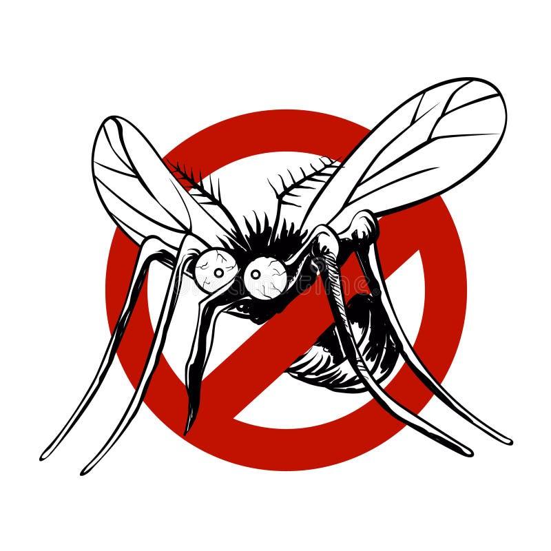 Anti sinal do mosquito ilustração royalty free