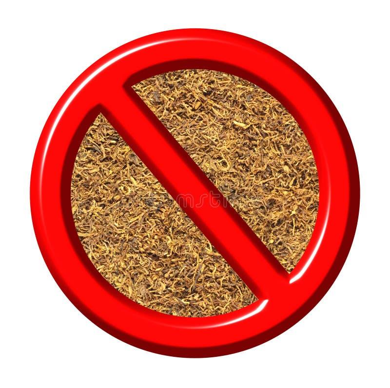 anti sinal do tabaco 3d ilustração do vetor