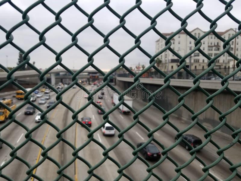 Anti--självmord skydd på bron arkivfoton