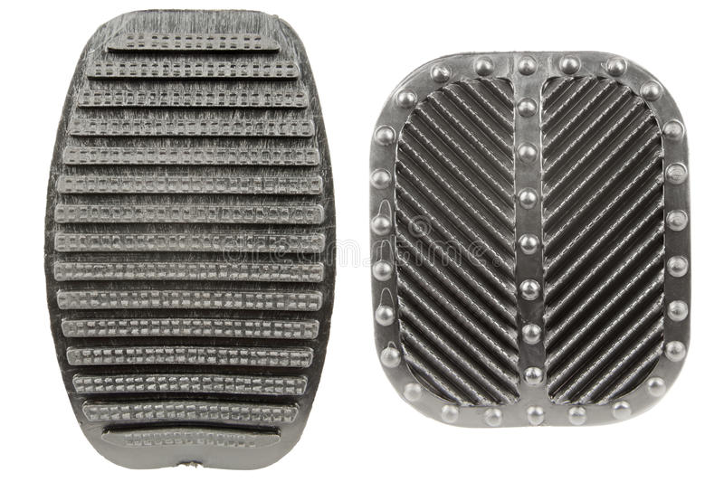 Anti slip rubber clutch and brake pedals royalty free stock image