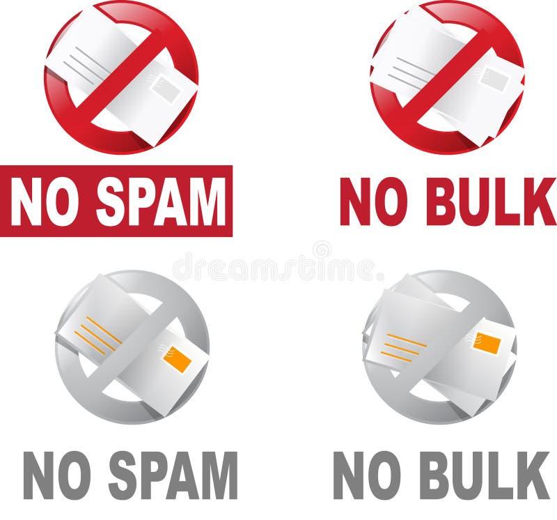 Anti Spam et courrier en bloc illustration stock