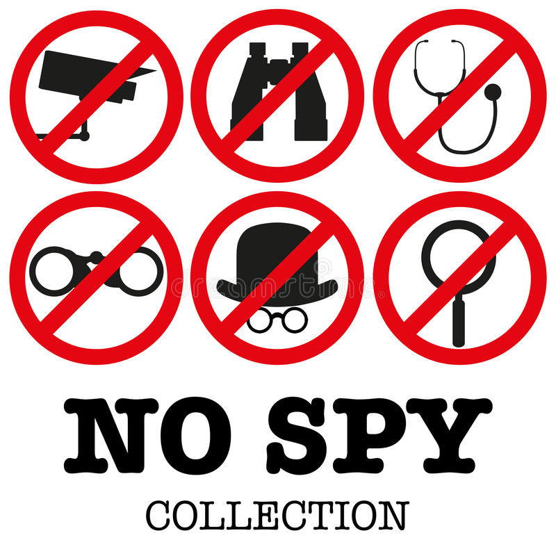 Anti-spyware icon Vector illustration royalty free illustration