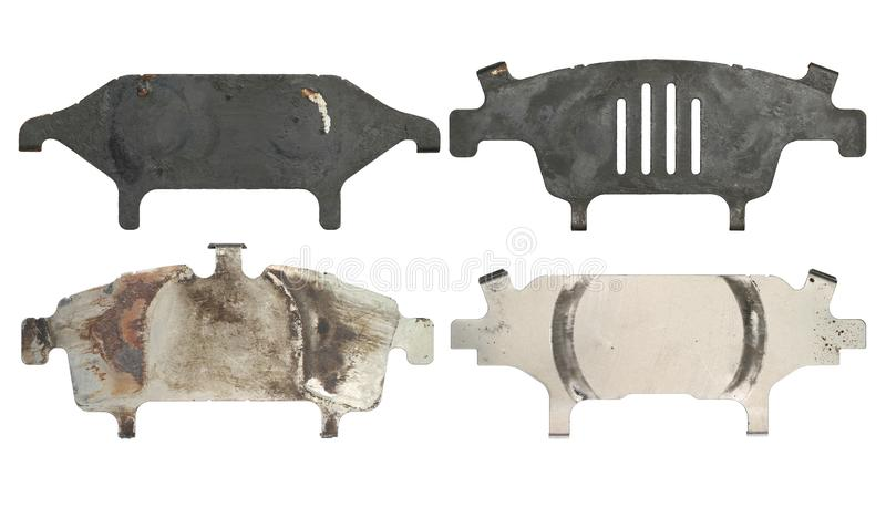 Anti squeal shim for disc brake pad. With clipping path isolated on white background royalty free stock photo