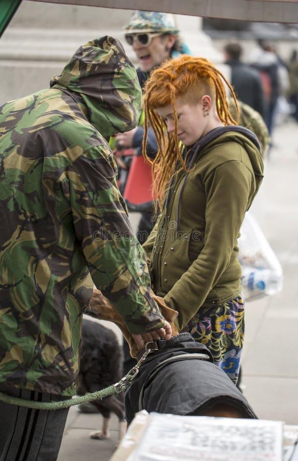 Anti-strengheid Maart royalty-vrije stock fotografie