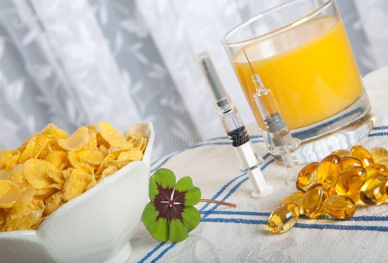 Anti swine flu breakfast royalty free stock images