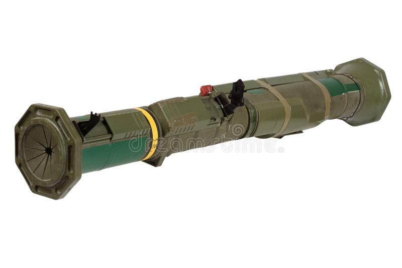 Anti-tank rocket propelled grenade launcher. Isolated on white royalty free stock image