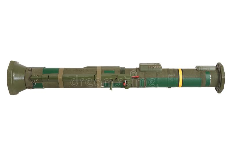 Anti-tank rocket propelled grenade launcher. Isolated on white royalty free stock photography