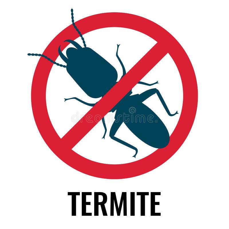 Anti--termit röd och blå symbol på vektorillustration royaltyfri illustrationer