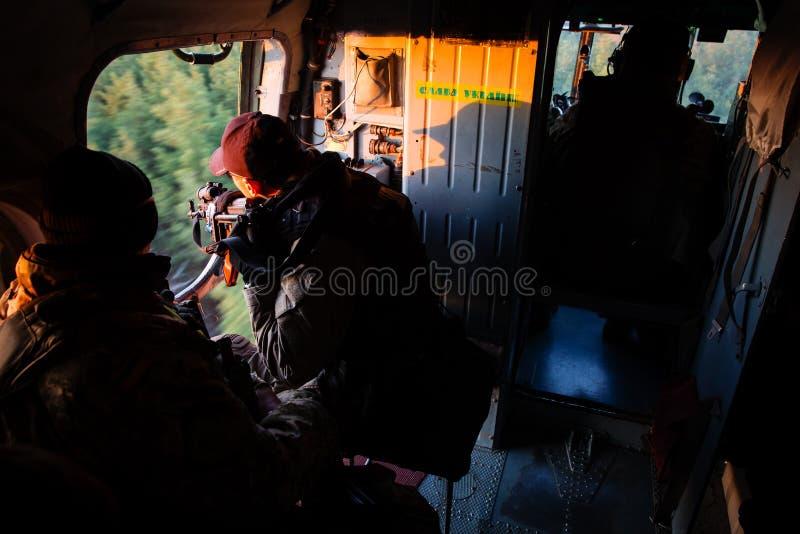 Anti-Terroristoperation in der Donetsk-Region, Ukraine stockfotos