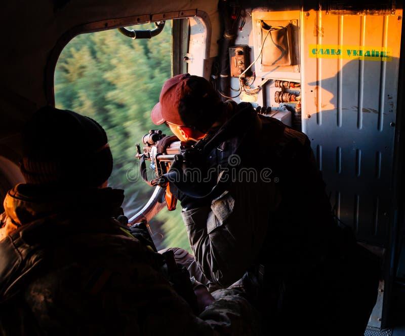 Anti-Terroristoperation in der Donetsk-Region, Ukraine lizenzfreie stockbilder